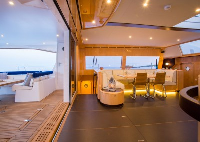 Sailing Catamaran Windquest available for charter in the Caribbean