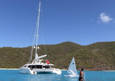 Luxury Yacht Charter in the British Virgin Islands aboard SY Akasha 4